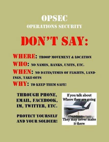 military opsec Are you violating opsec / persec as a military spouse don't make the same mistakes i did.